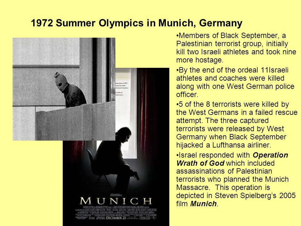 1972 Summer Olympics in Munich, Germany
