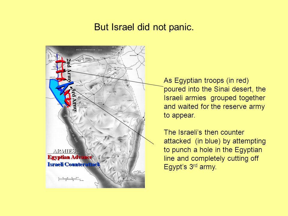 But Israel did not panic.