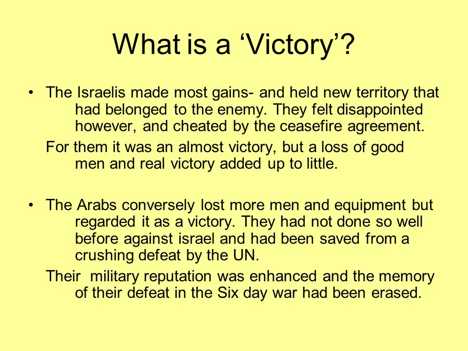 What is a 'Victory'