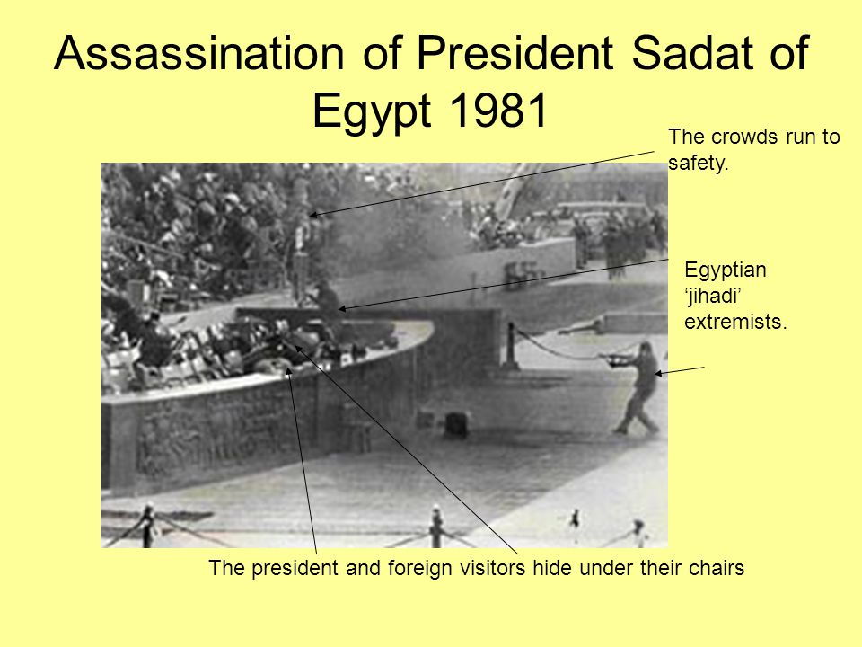 Assassination of President Sadat of Egypt 1981