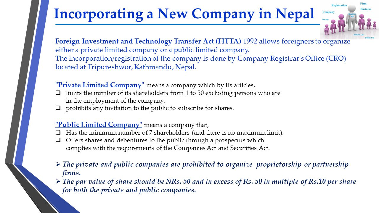 Incorporating a New Company in Nepal