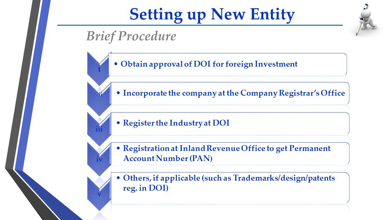 Setting up New Entity Brief Procedure i