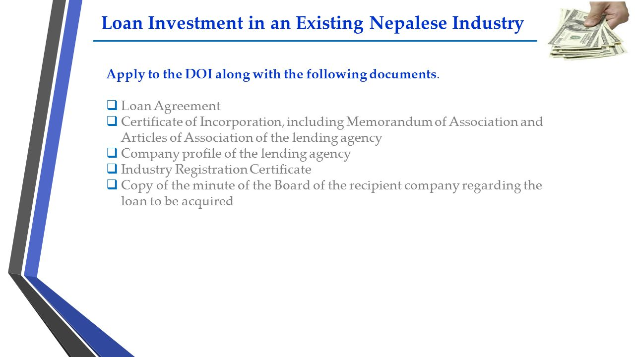 Loan Investment in an Existing Nepalese Industry