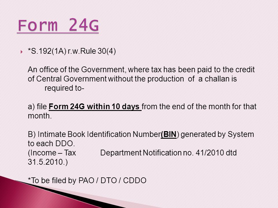 Form 24G