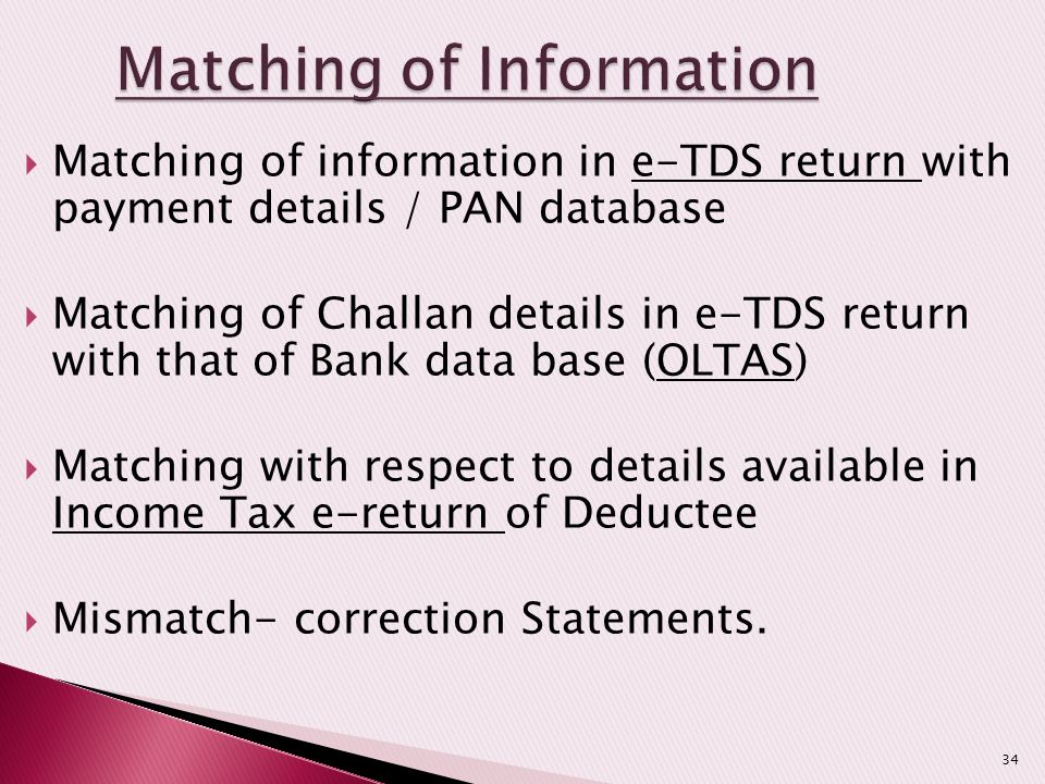 Matching of Information