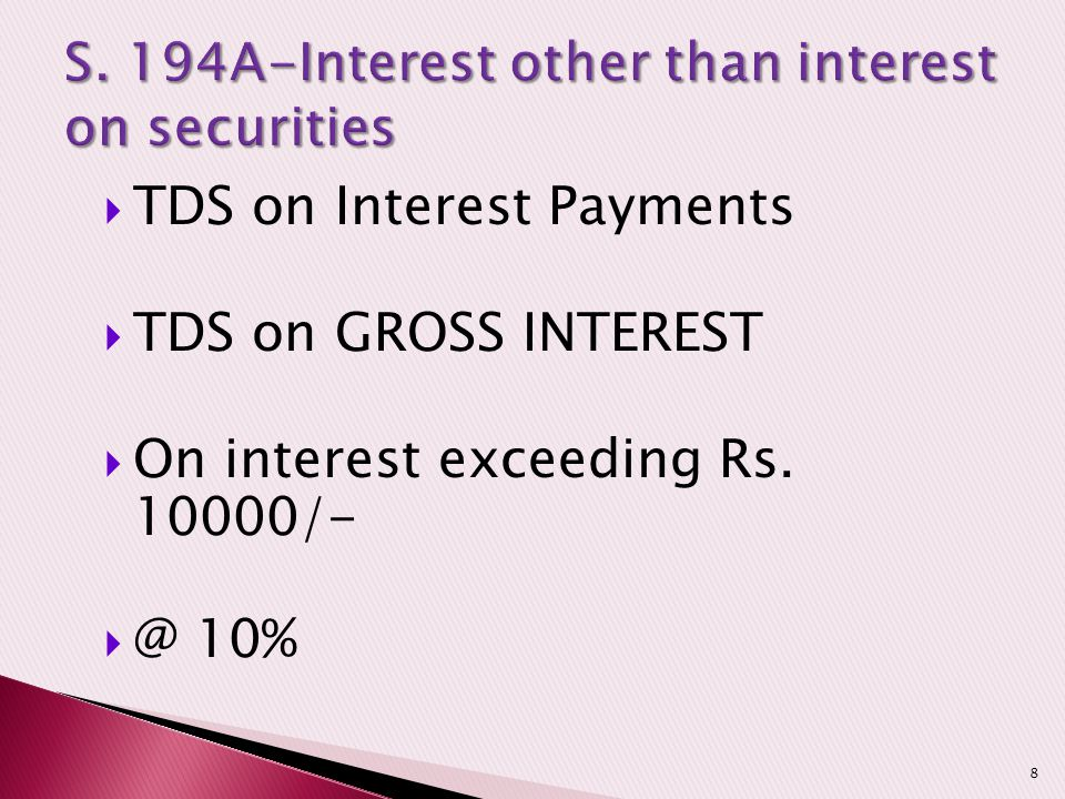 S. 194A-Interest other than interest on securities