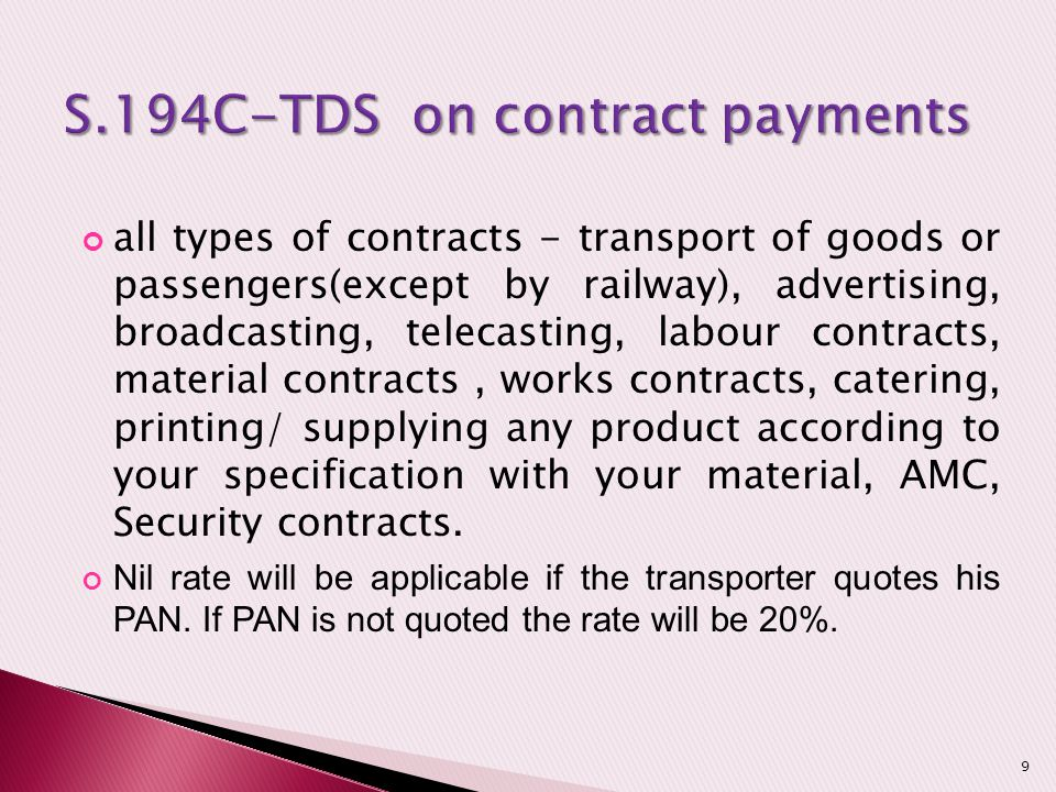 S.194C-TDS on contract payments