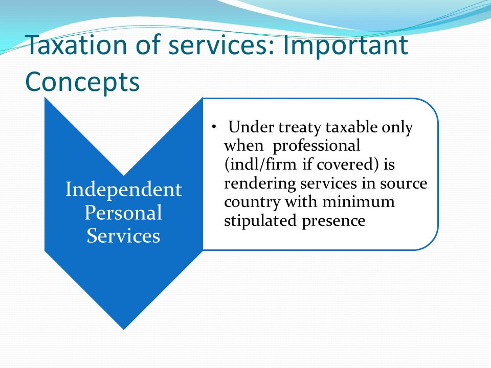 Taxation of services: Important Concepts