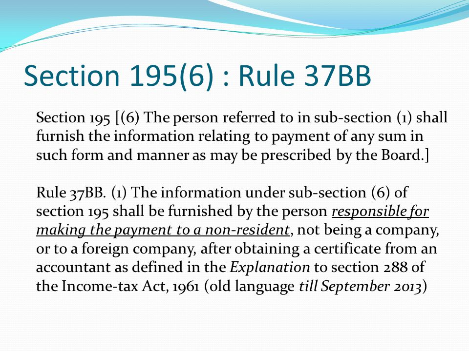 Section 195(6) : Rule 37BB