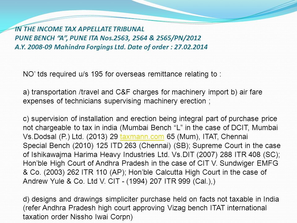 IN THE INCOME TAX APPELLATE TRIBUNAL PUNE BENCH A , PUNE ITA Nos