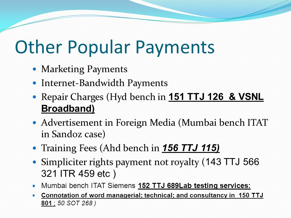 Other Popular Payments