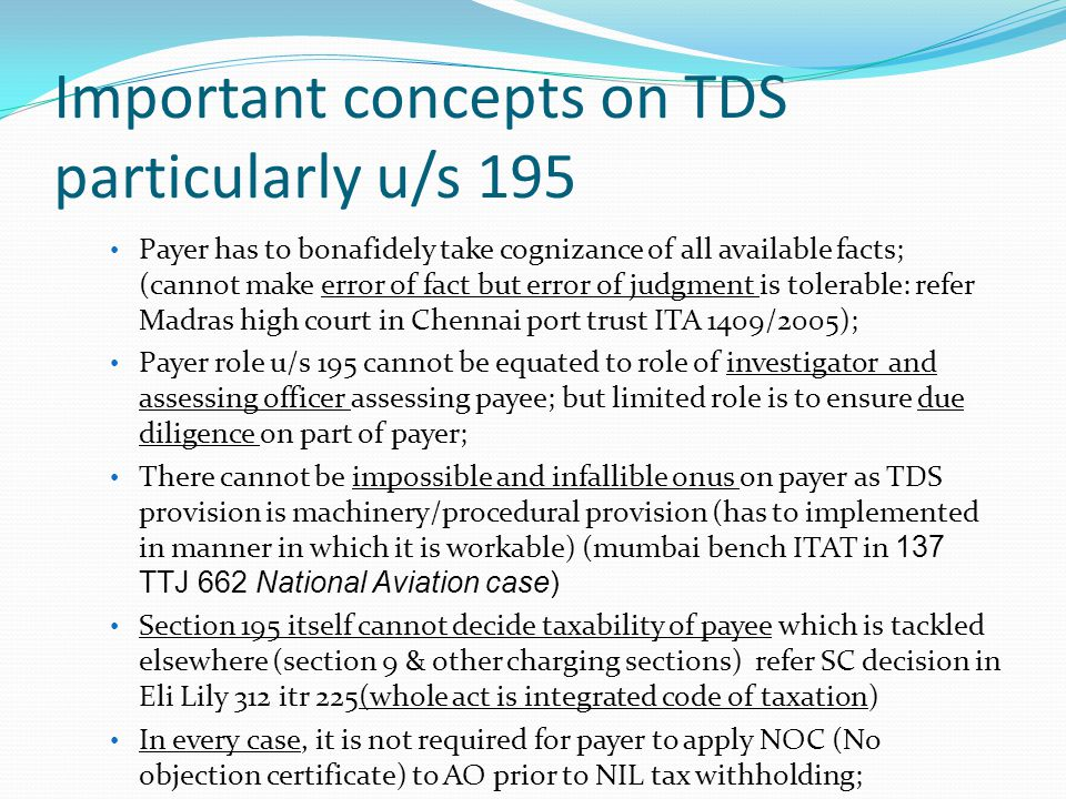 Important concepts on TDS particularly u/s 195