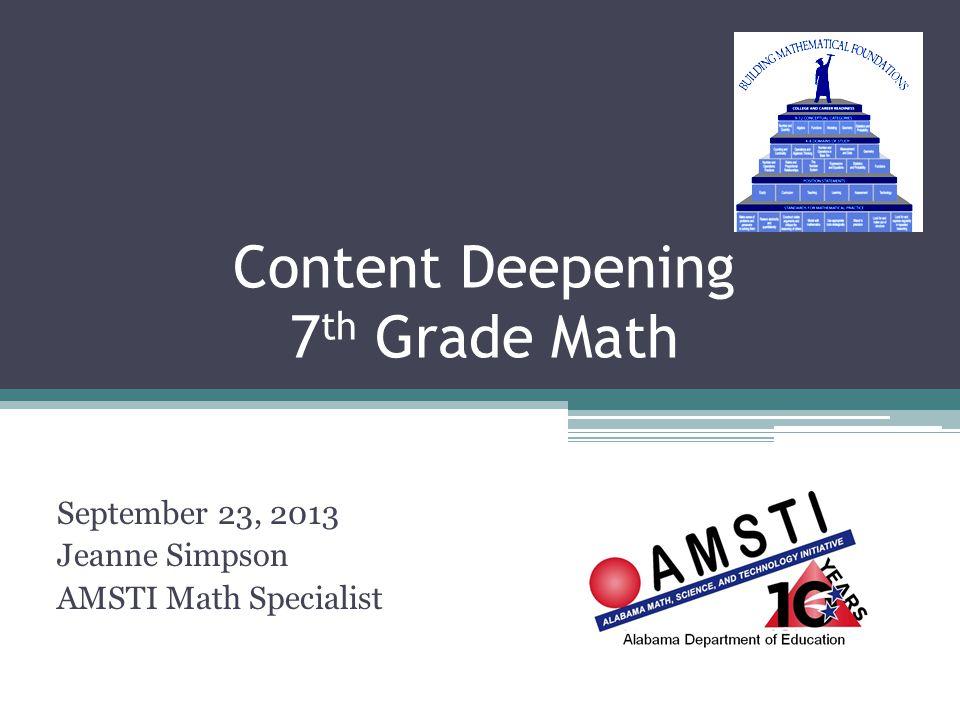 Content Deepening 7th Grade Math