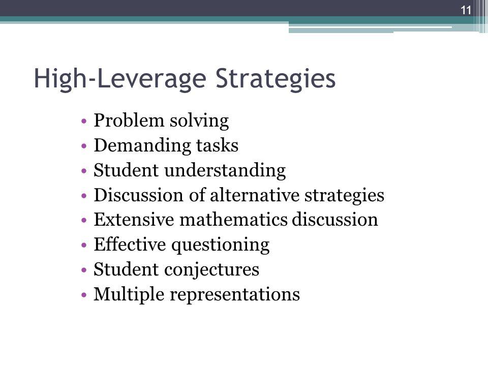 High-Leverage Strategies