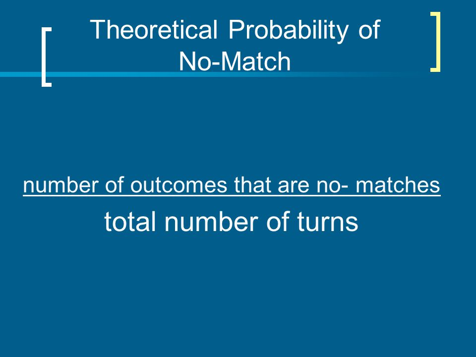 Theoretical Probability of No-Match
