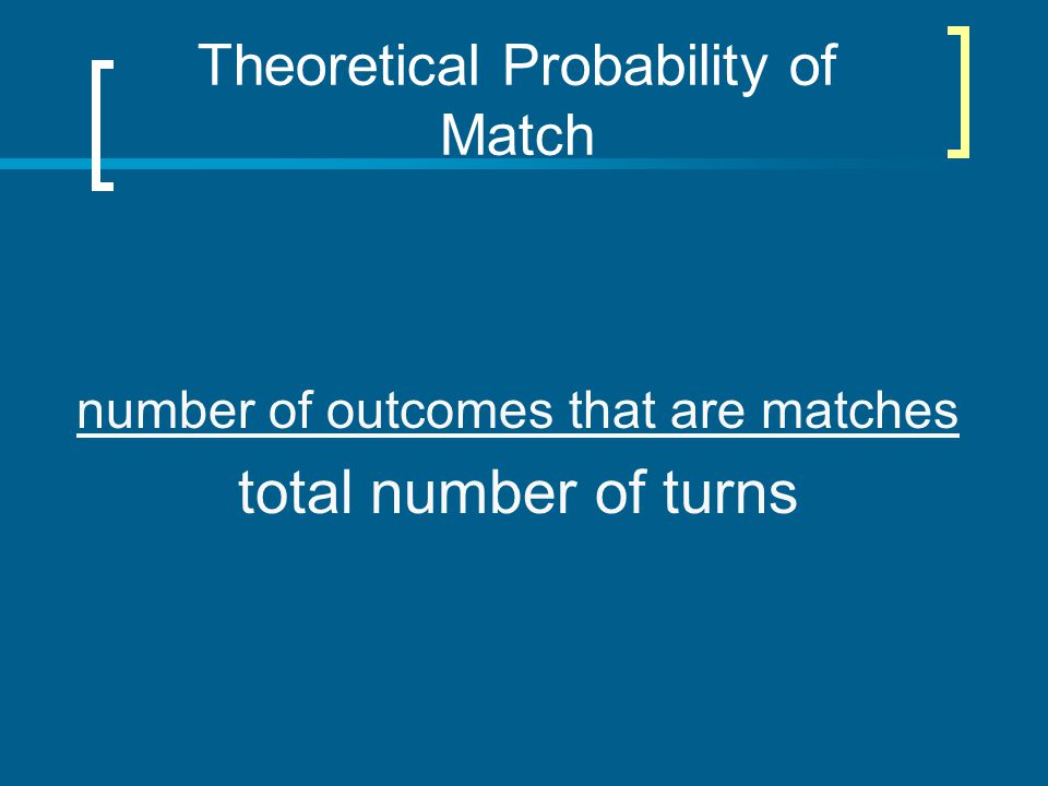Theoretical Probability of Match