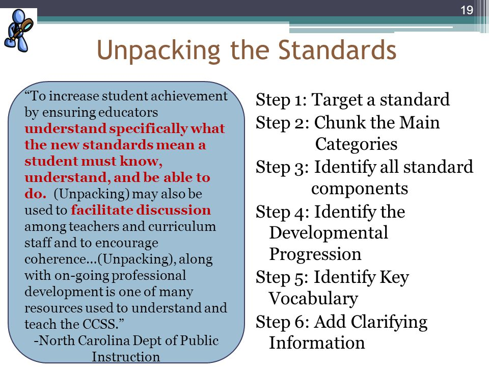 Unpacking the Standards