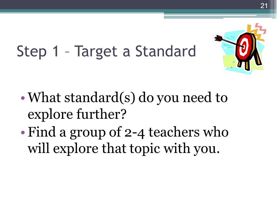 Step 1 – Target a Standard