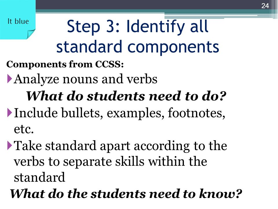Step 3: Identify all standard components