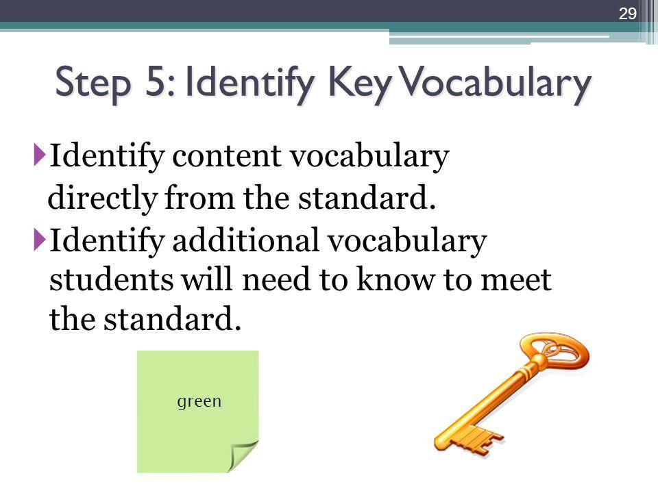 Step 5: Identify Key Vocabulary