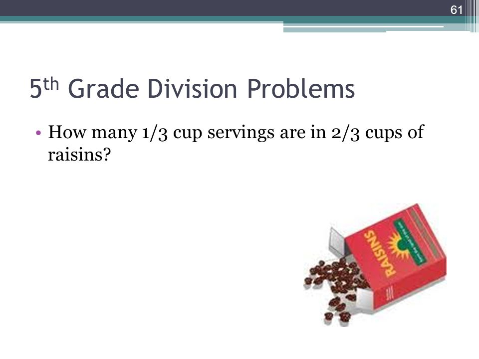 5th Grade Division Problems