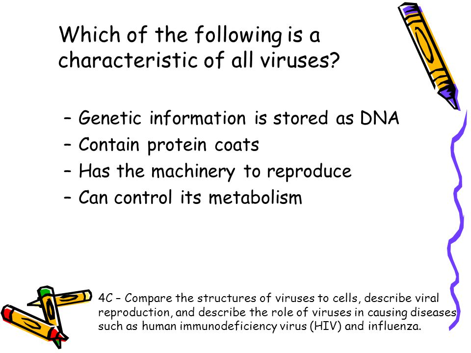 Which of the following is a characteristic of all viruses