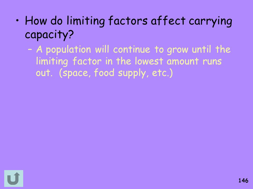 How do limiting factors affect carrying capacity