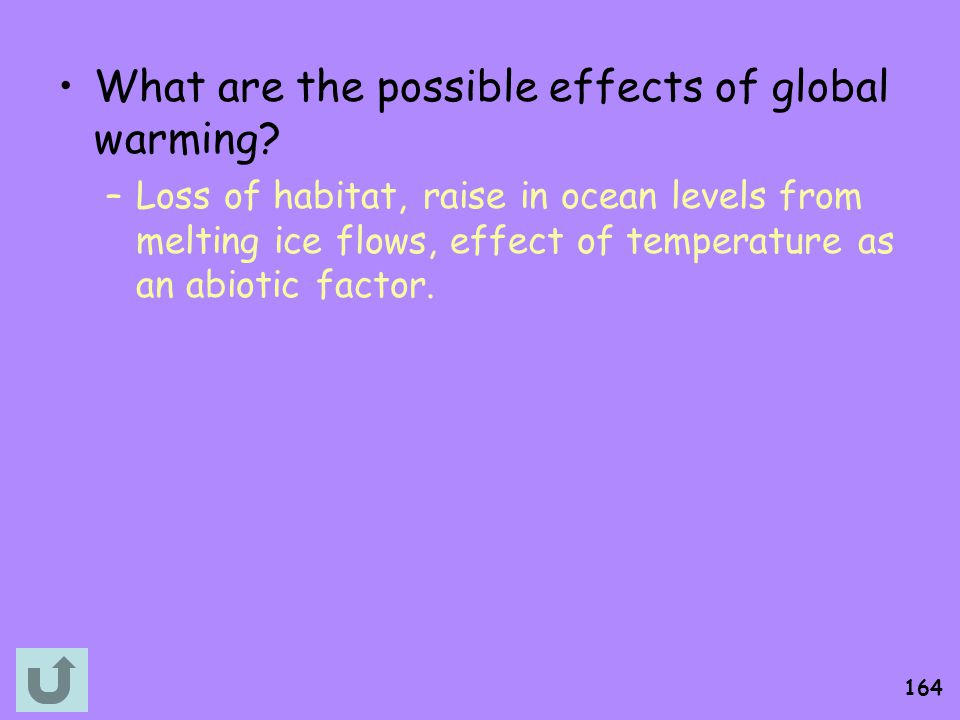 What are the possible effects of global warming
