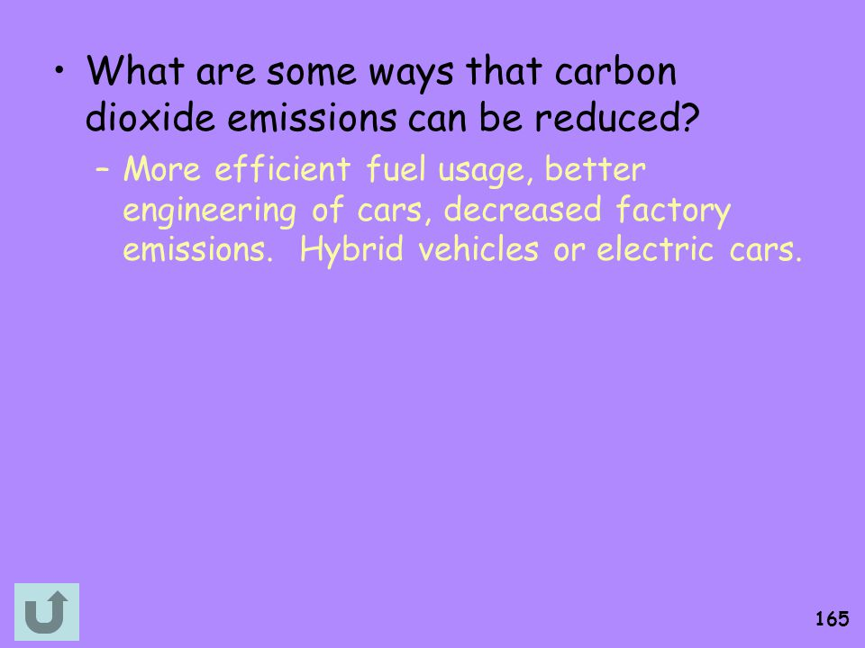 What are some ways that carbon dioxide emissions can be reduced