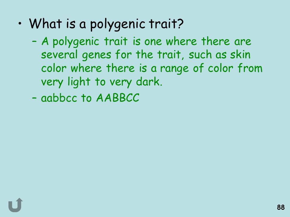 What is a polygenic trait
