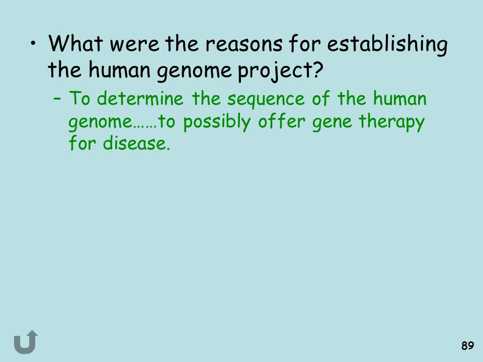 What were the reasons for establishing the human genome project