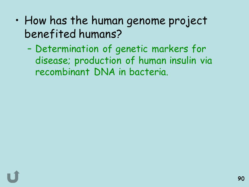 How has the human genome project benefited humans