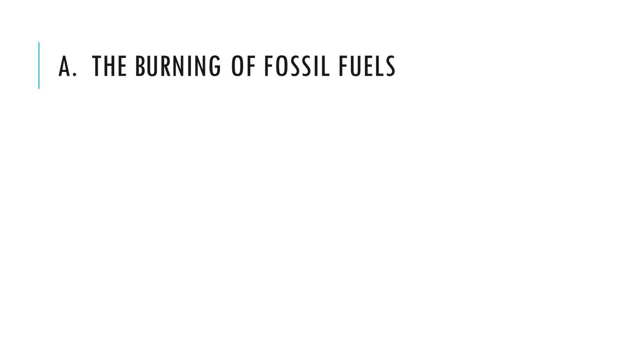 A. The burning of Fossil fuels
