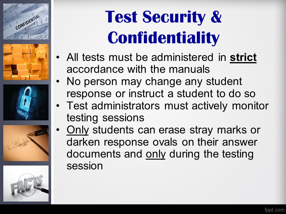 Test Security & Confidentiality