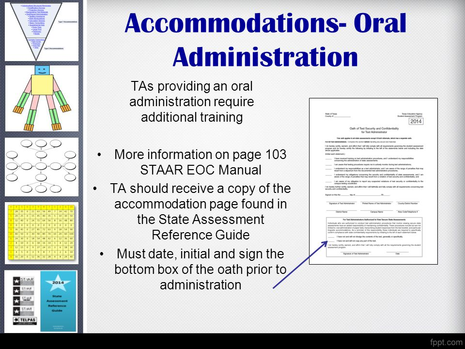 Accommodations- Oral Administration