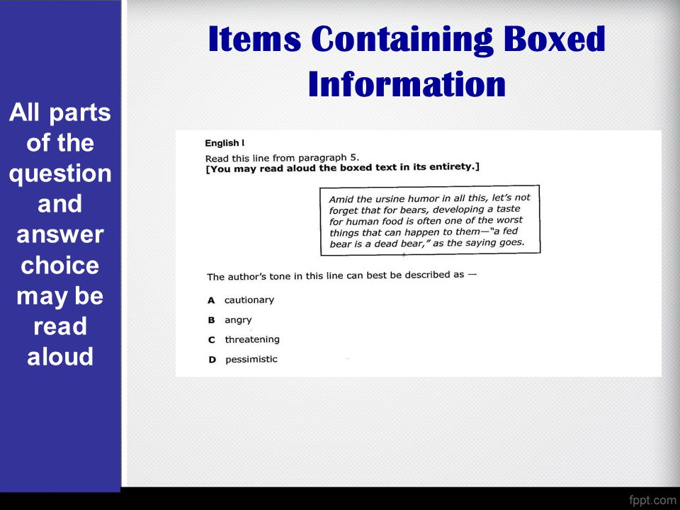 Items Containing Boxed Information