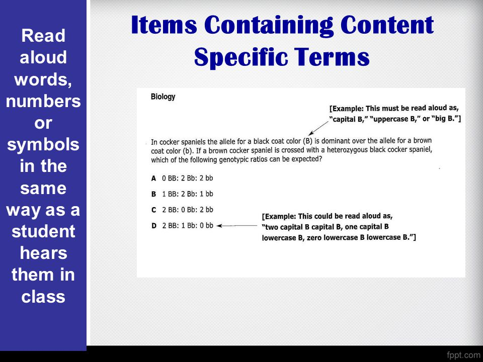 Items Containing Content Specific Terms