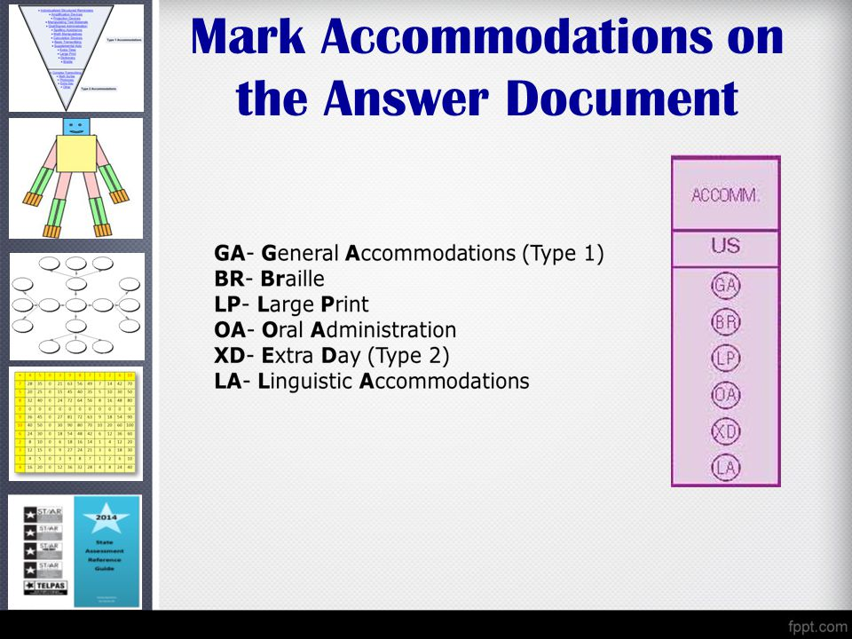 Mark Accommodations on the Answer Document