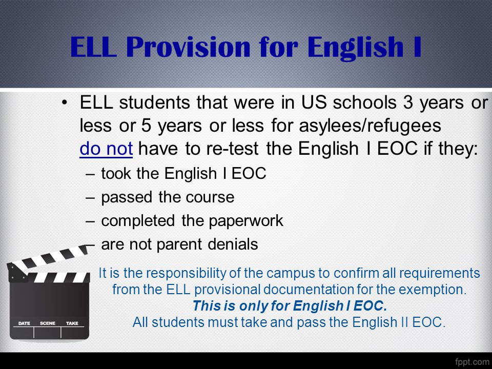 ELL Provision for English I
