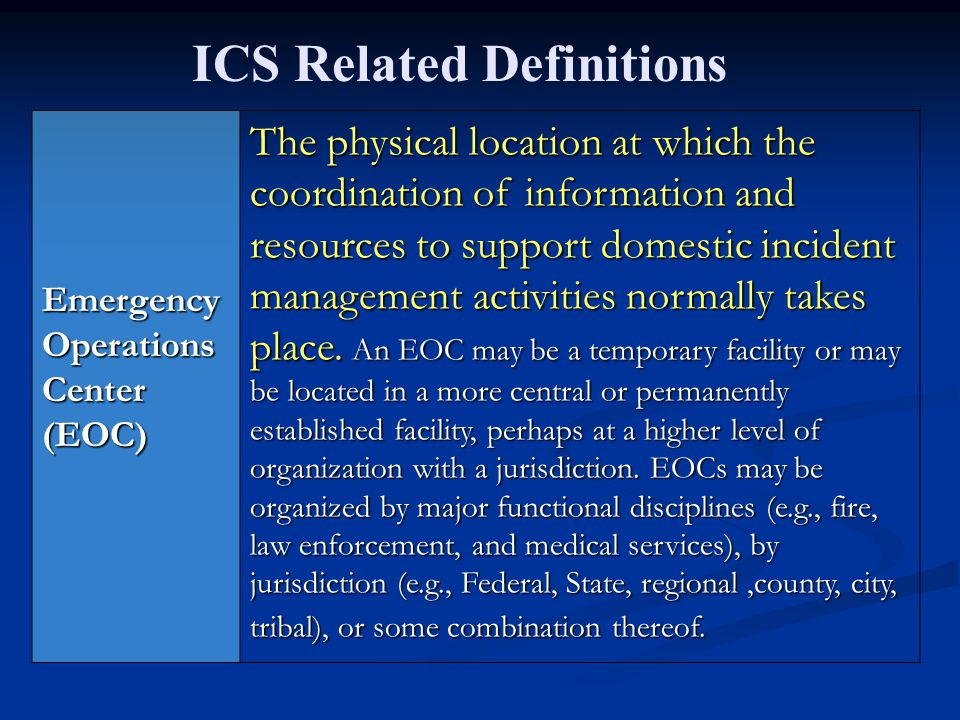 ICS Related Definitions