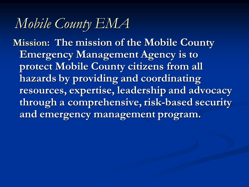 Mobile County EMA