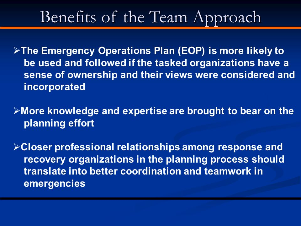 Benefits of the Team Approach