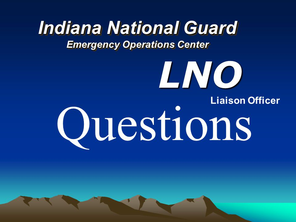 Indiana National Guard Emergency Operations Center