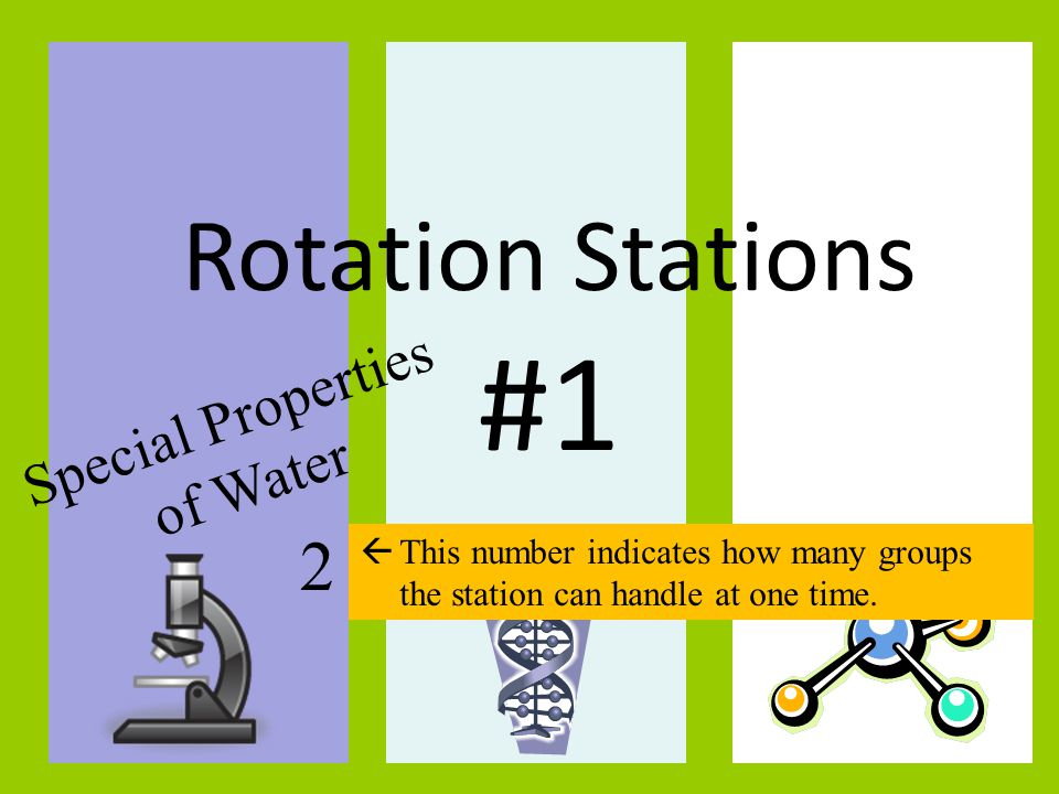 #1 Rotation Stations 2 Special Properties of Water TITLE: