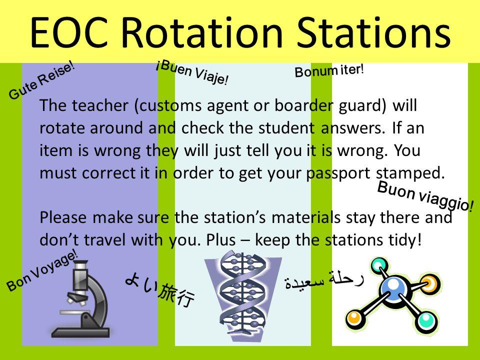 EOC Rotation Stations TITLE: رحلة سعيدة