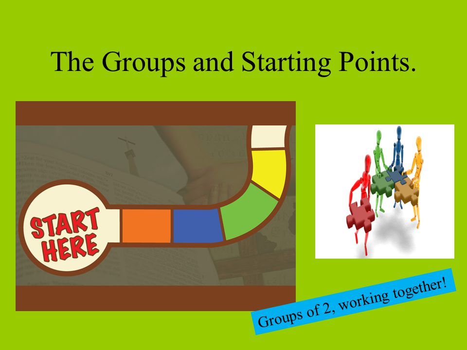 The Groups and Starting Points.