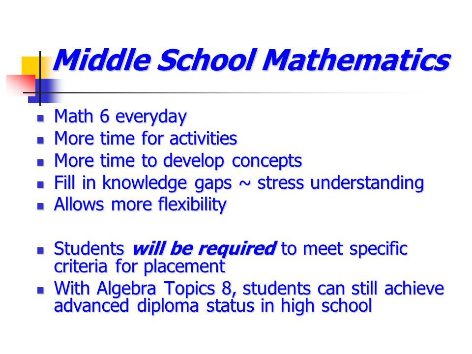 Middle School Mathematics