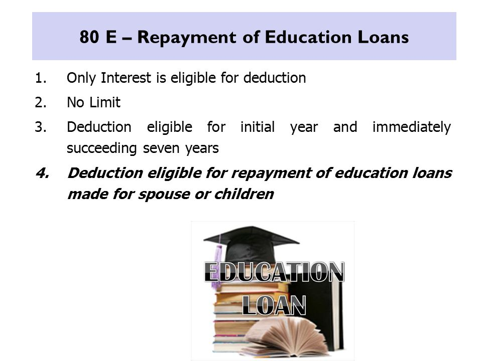 80 E – Repayment of Education Loans