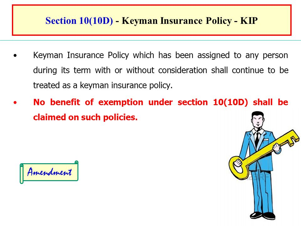 Section 10(10D) - Keyman Insurance Policy - KIP