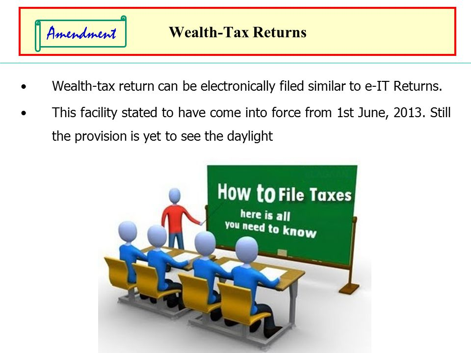 Amendment Wealth-Tax Returns